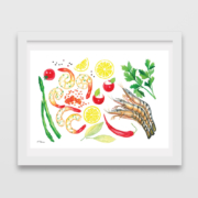 Shrimps,-red-caviar,-lemons,-peppers,asparagus-&-tomatoes-1