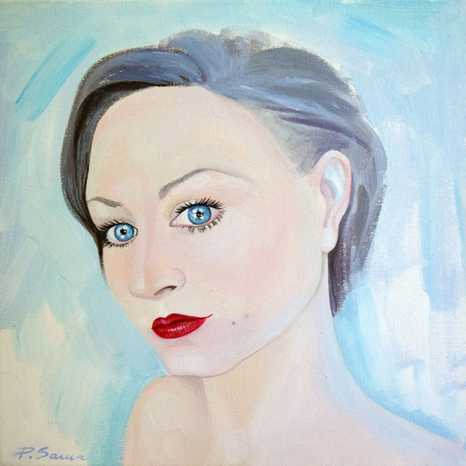 Self-Portrait-in-pale-blue